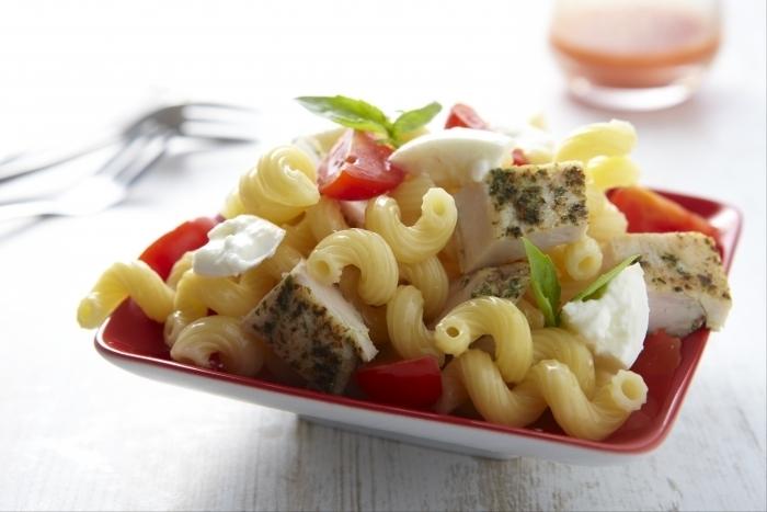 Recette de salade de torsades et poulet au pesto facile et rapide