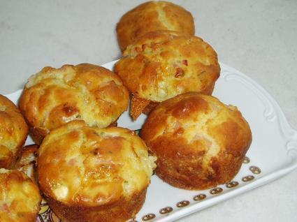Recette de muffins aux lardons et au chèvre