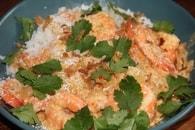 Recette de curry de crevettes, coco et coriandre