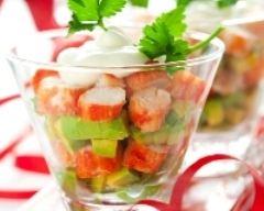 Recette salade de crabe et avocat en verrine