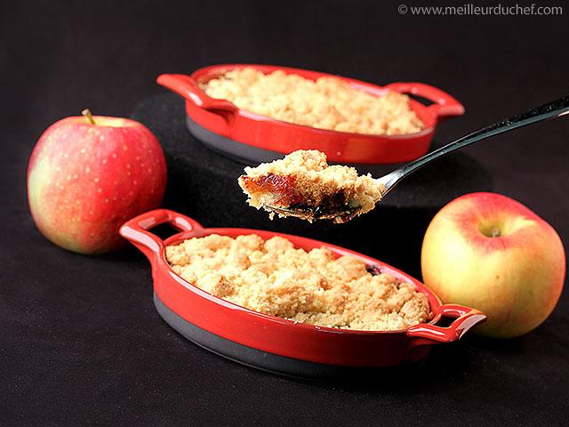 Crumble aux pommes  recette de cuisine avec photos ...