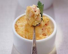 Recette oeufs brouillés au fromage et au jambon