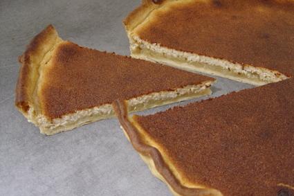 Recette de tarte aux pommes et au fromage blanc