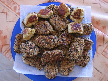 Recette de nuggets de poulet au muesli et épices