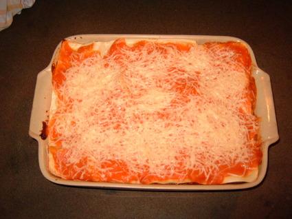 Lasagnes de poivrons et champignons de paris