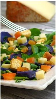 Recette de salade de pommes de terre vitelotte au fromage vauban ...