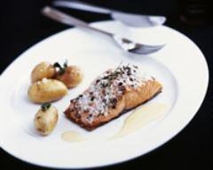 Recette saumon sur lit de gros sel de guerande