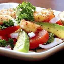 Recette salade de crevettes aux avocats et poivrons – toutes les ...