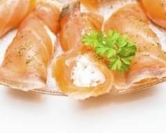 Recette roulés saumon fromage