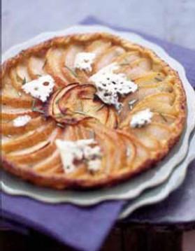 Tarte poires, pommes, avec ou sans roquefort pour 6 personnes ...