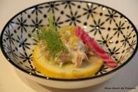Tapas aux crevettes grises, betterave chioggia à l'huile de truffe ...