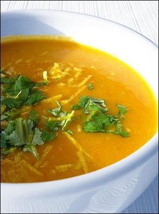 Recette de velouté de carotte coco
