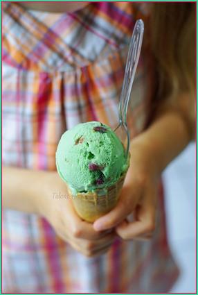 Recette de glace à la pistache et figues au pineau