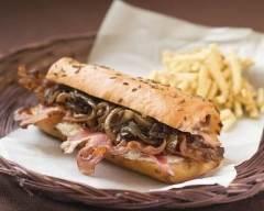 Recette sandwich aux oignons et au bacon