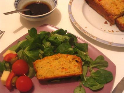 Recette de cake potiron-crevettes