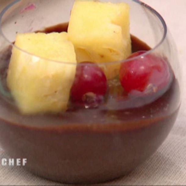 Recette verrines de crémeux chocolat noir et blanc