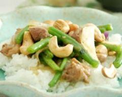 Recette wok de poulet aux noix de cajou et haricots verts
