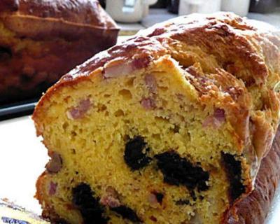 Recette cake lardons pruneaux