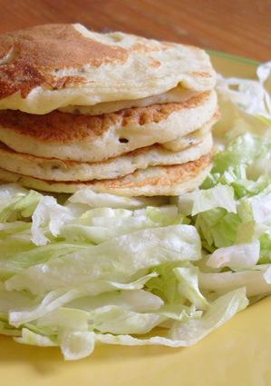 Recette de pancakes de pommes de terre, ail et fines herbes