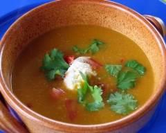 Recette soupe épicée à la patate douce pauvre en sel