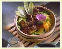 Recette salade de boeuf aux oranges et endives