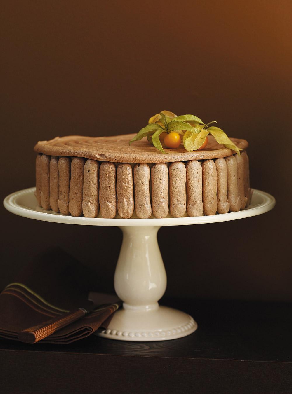 Gâteau au café et meringue au chocolat   ricardo