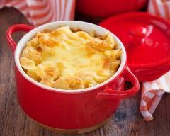 Recette gratin de macaronis au reblochon
