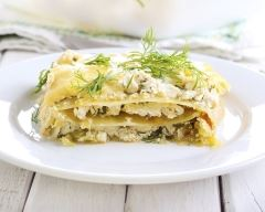 Recette lasagnes aux courgettes, crème et chèvre