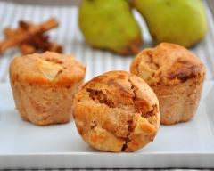 Recette muffins aux poires et à la cannelle