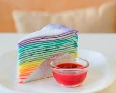 Recette gâteau de crêpes rainbow
