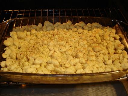 Recette crumble aux pommes et aux bananes (crumble)