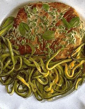 Veau aux spaghettis de courgette pour 4 personnes
