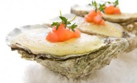 Huîtres chaudes au champagne pour 4 personnes