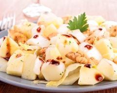 Recette salade d'endives aux pommes et noix