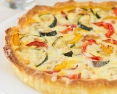 Recette quiche aux poivrons, tomates et mozzarella