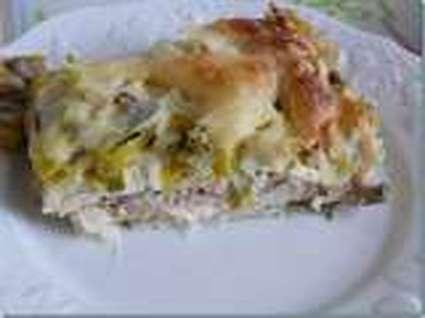 Recette de lasagnes thon-poireaux