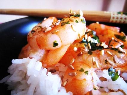 Recette de crevettes sautées ail et curry