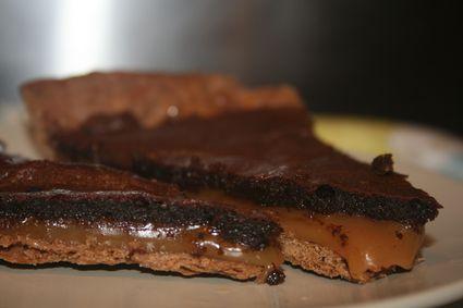 Tarte caramel beurre salé-chocolat