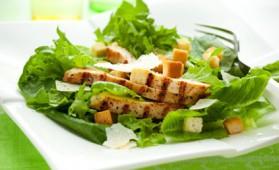 Poulet en salade pour 4 personnes