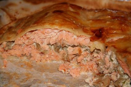 Recette de tourte de saumon frais