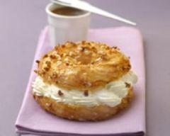 Recette paris brest au fromage fouetté et caramel au beurre salé