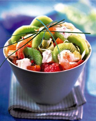 Recette de salade nordique aux kiwis