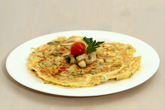 Recette de omelette plat aux l gumes rapide recette for Plats facile a cuisiner