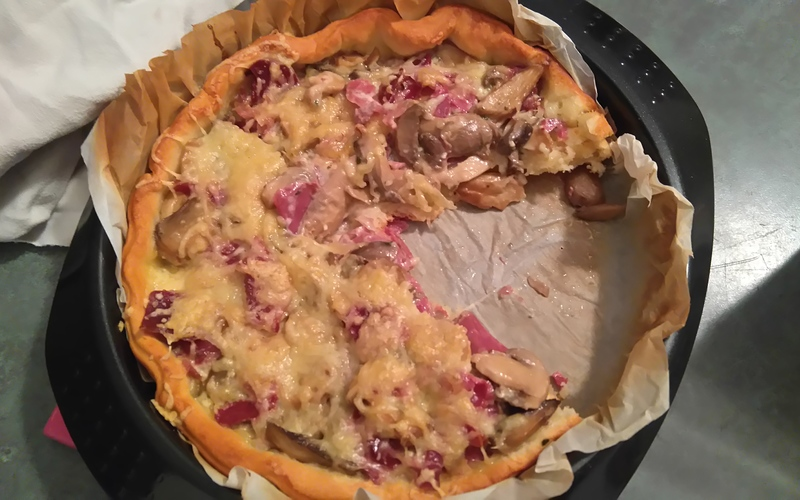 Recette tarte fine champignons-gésiers économique > cuisine ...
