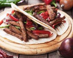 Recette tacos au bœuf et aux poivrons