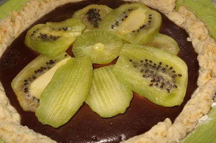 Recette de tarte au chocolat et kiwis