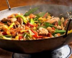 Recette wok à la dinde de noël et aux petits légumes