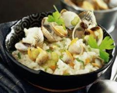 Recette risotto aux coques