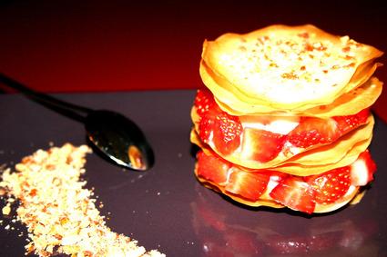 Recette de croustillant aux fraises et chouchous