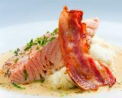 Pavés de saumon au jambon de bayonne | cuisine az